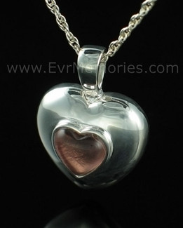 Sterling Silver October Heart Jewelry Urn