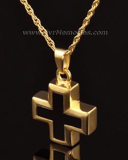 14K Gold Destiny Cross Urn Keepsake