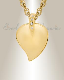 14K Gold Fire Heart Memorial Locket