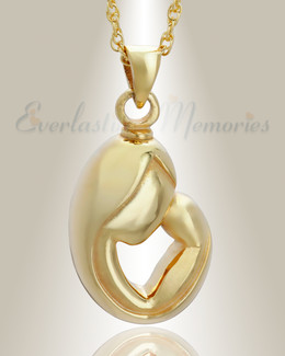 14K Gold Mother's Touch Cremation Charm