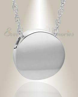 Silver Beach Round Urn Necklace