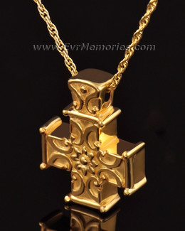 14K Gold Companion Memory Cross Jewelry Urn