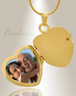 14K Gold Plated Sophisticate Heart Cremation Keepsake