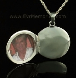 14K White Gold Sophisticate Round Funeral Jewelry