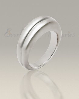 Men's White Gold Gentleman's Ashes Ring