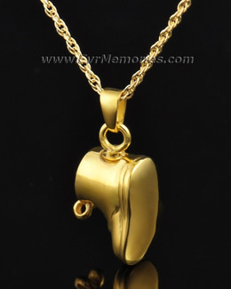 14K Gold Plated Lil Booty Urn Necklace