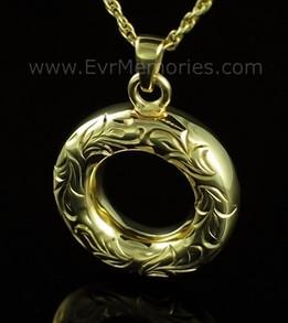 14K Gold Plated Eternal Urn Keepsake