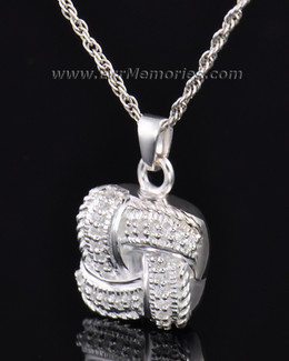 Sterling Silver Interlace Cremation Keepsake