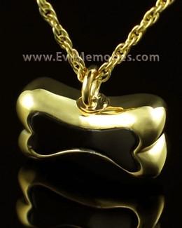 14K Gold Black Bone Cremains Jewelry