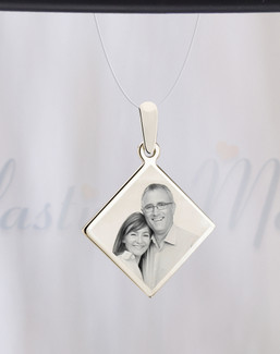 Diamond Photo Engraved Stainless Guardian