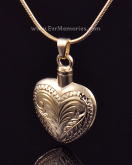 14K Gold Plated Darling Heart Cremation Keepsake