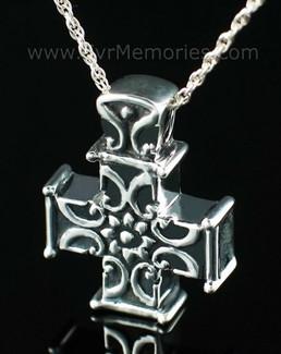 Silver Companion Memory Cross Urn Keepsake
