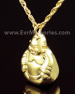 Gold Vermeil Budda Urn Necklace