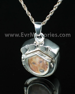 Sterling Silver Photo Paw Memorial Locket
