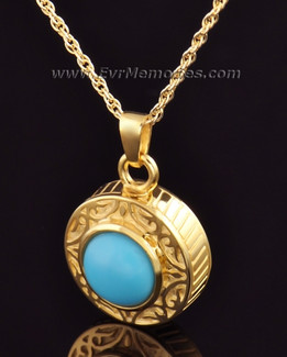 Gold Vermeil with Turquoise Urn Keepsake