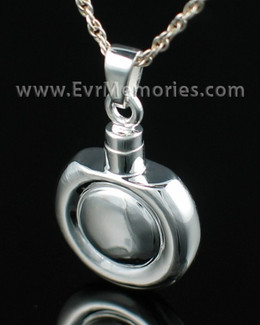 Sterling Silver Double Round Funeral Jewelry