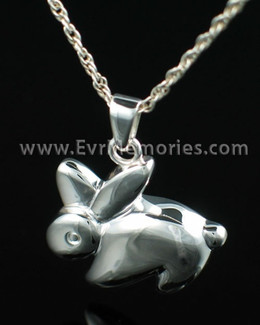 Sterling Silver Rabbit Cremation Keepsake