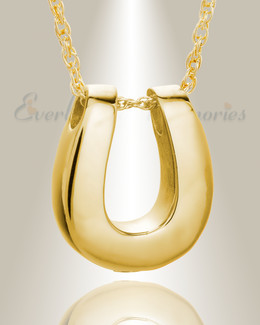 14K Gold Lucky Memorial Locket