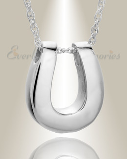14K White Gold Lucky Memorial Pendant