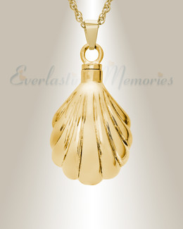 14K Gold Shells Urn Necklace