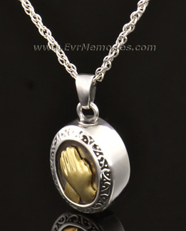14k White Gold Belief Memorial Locket