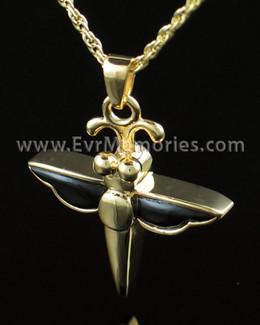 Gold Vermeil Night Dragon Fly Urn Keepsake