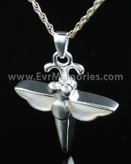 Sterling Silver Dewy Dragon Funeral Jewelry