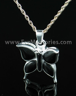 Sterling Silver Night Butterfly Urn Necklace