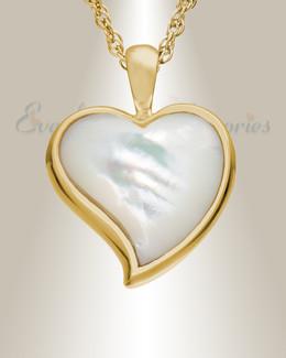 14K Gold Dewy Heart Urn Keepsake