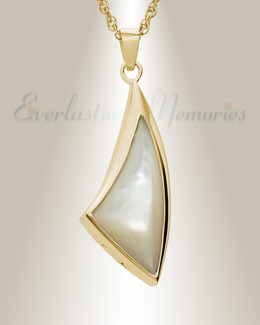 Gold Vermeil Sail Away Jewelry Urn