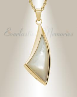 14K Gold Sail Away Urn Necklace