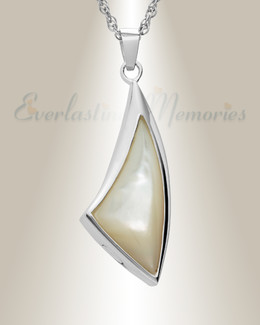 Sterling Silver Sail Away Funeral Jewelry