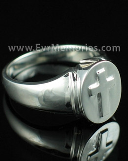 Women's Silver Divinity Cremation Ring