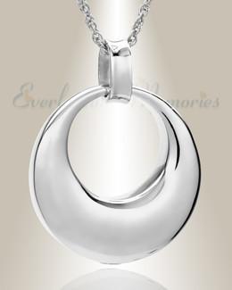 14K White Gold Timeless Urn Necklace