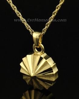 14K Gold Pinwheel Jewelry Urn