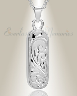 Sterling Silver Majesty Cylinder Funeral Jewelry
