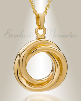 14K Gold Ringed Eternity Funeral Jewelry