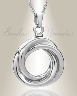 Sterling Silver Ringed Eternity Urn Necklace