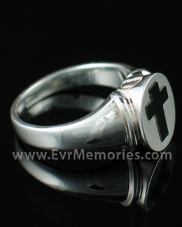 Sterling Silver Mens Eternity Ring Memorial Urn