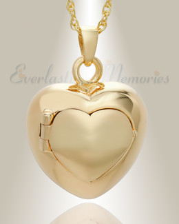 14K Plated Purity Heart Jewelry Urn