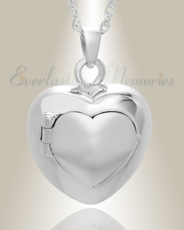 Sterling Silver Purity Heart Funeral Jewelry