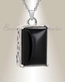 14K White Gold Devotion Cremation Keepsake