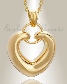 14K Plated Loyalty Heart Jewelry Urn