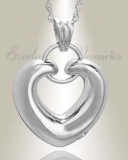 Sterling Silver Loyalty Heart Funeral Jewelry