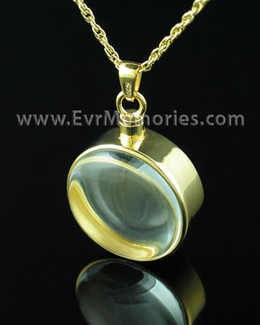14K Plated Glass Solitude Memorial Locket