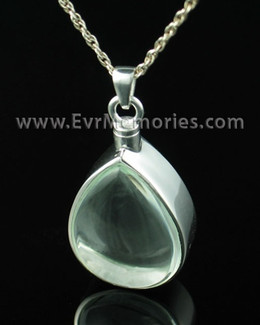 Sterling Silver Tearful Urn Necklace