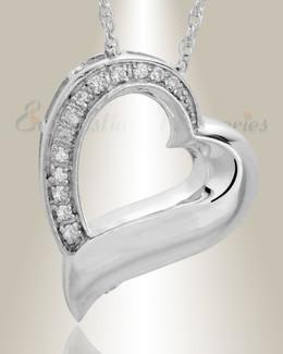 Sterling Silver Passion Heart Urn Keepsake