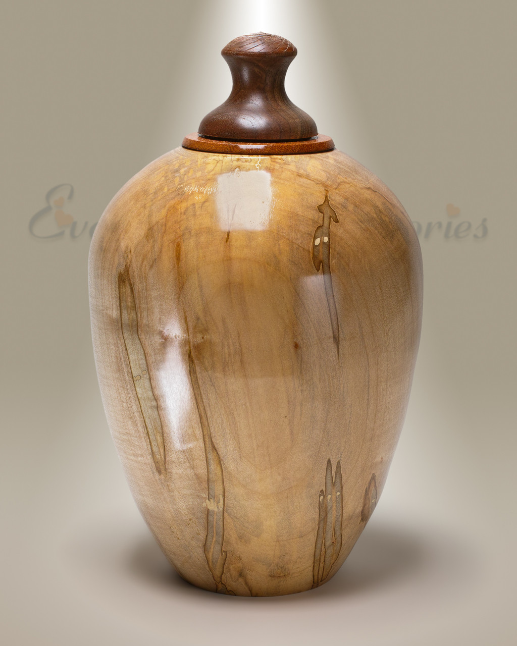 Light Native Southeastern Wood Cremation Urn
