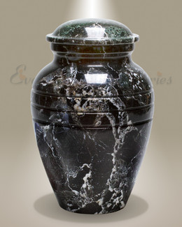Black Grain Marble Cremation Urn
