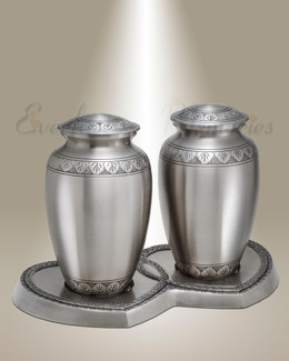 Classic Pewter Companion Cremation Urn